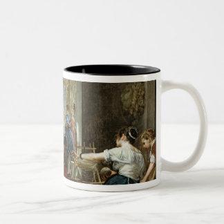 The Spinners, or The Fable of Arachne, 1657 Two-Tone Coffee Mug