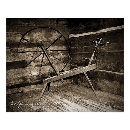 """""""The Spinning Wheel"""" Poster"""