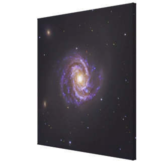 The Spiral Galaxy M100 and Supernova SN2006X Gallery Wrap Canvas