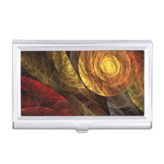 The Spiral of Life Abstract Art Business Card Holder