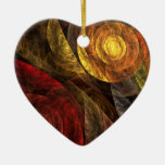 The Spiral of Life Abstract Art Heart Ornament