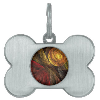 The Spiral of Life Abstract Art Pet ID Tag