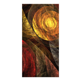 The Spiral of Life Abstract Art Photo Card