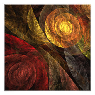 The Spiral of Life Abstract Art Photo Print