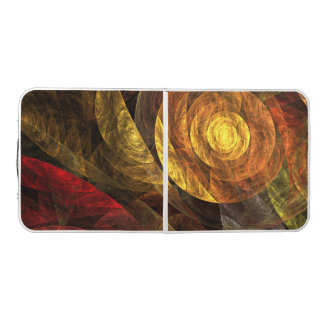 The Spiral of Life Abstract Art Pong Table