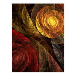 The Spiral of Life Abstract Art Postcard