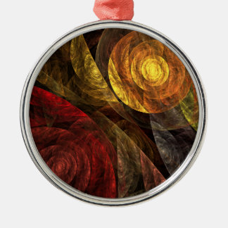 The Spiral of Life Abstract Art Round Christmas Ornament