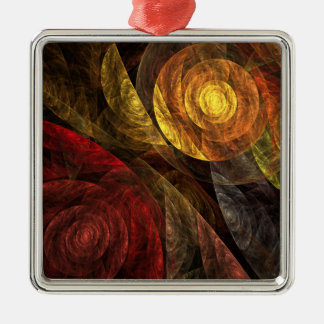 The Spiral of Life Abstract Art Square Christmas Ornament