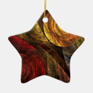 The Spiral of Life Abstract Art Star Ornament