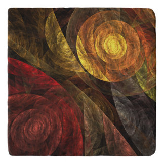 The Spiral of Life Abstract Art Stone Trivets