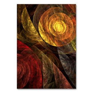 The Spiral of Life Abstract Art Table Card