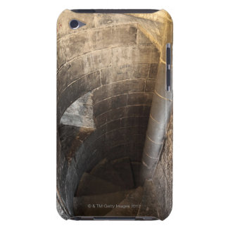The spiral staircase leading to the top of the iPod touch covers
