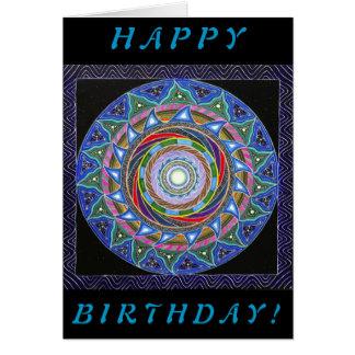 The Spiraling Vortex (Birthday Card) Card