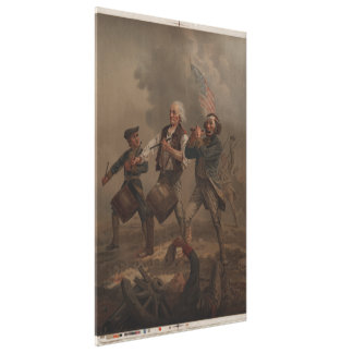 The Spirit of '76 (Yankee Doodle) by A.M. Willard Stretched Canvas Prints