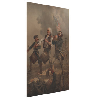 The Spirit of '76 (Yankee Doodle) by A.M. Willard Stretched Canvas Print