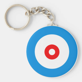 The spirit of Curling Basic Round Button Key Ring