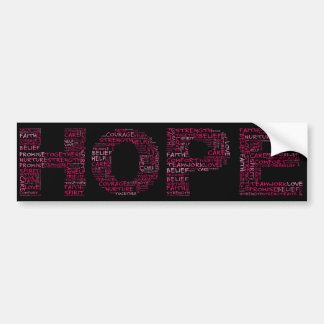 The Spirit of Hope Pink Text Bumper Stickers