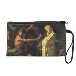 The Spirit of Samuel appearing to Saul at the hous Wristlet Purse