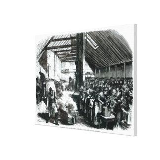The Spitalfields Soup Kitchen, 1867 Canvas Print