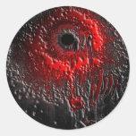 The Splatter Effect Round Sticker