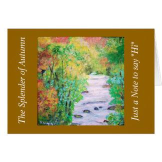 The Splender of Autumn Card