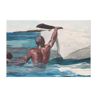 The Sponge Diver - Homer Winslow Canvas Print