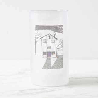 The Spooky House Frosted Glass Mug