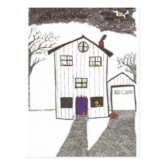 The Spooky House Postcard
