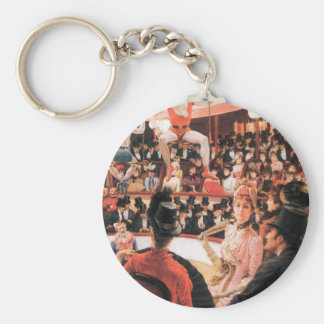 The sporting women by James Tissot Key Chain