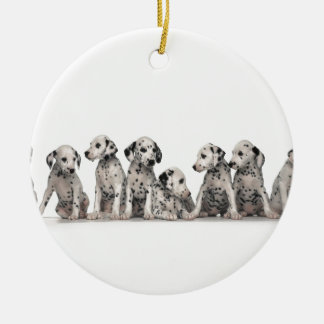 THE SPOTTED LINE -CUTE DALMATIANS CHRISTMAS ORNAMENT