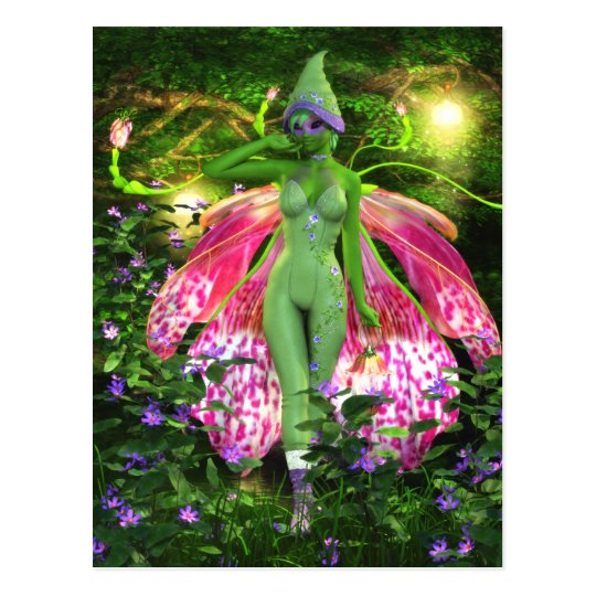 The Sprightly Orchid Faerie Postcard