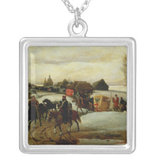The Spring Pilgrimage of the Tsarina Silver Plated Necklace