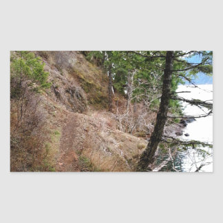 The Spruce Railroad Trail Olympic National Park Rectangular Sticker