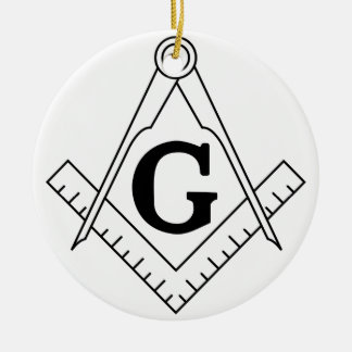 The Square and Compasses Freemasonry Symbol Christmas Ornament