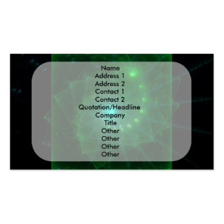 The Square Green Worm Fractal Art Business Cards