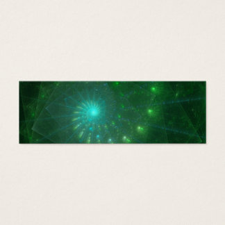 """The Square Green Worm"" Fractal Art Mini Business Card"