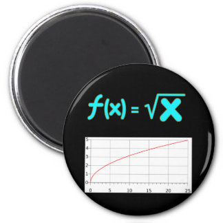 The Square Root Function f(x) = SQRT x 6 Cm Round Magnet