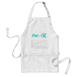 The Square Root Function f(x) = SQRT x Adult Apron