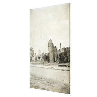 The Square, Ypres, June 1915 Canvas Print