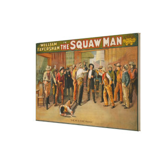 The Squaw Man Western Drama Theatre Poster Canvas Print