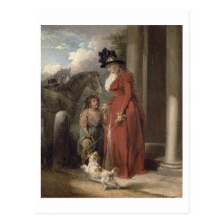 The Squire s Door c 1790 oil on canvas Postcard
