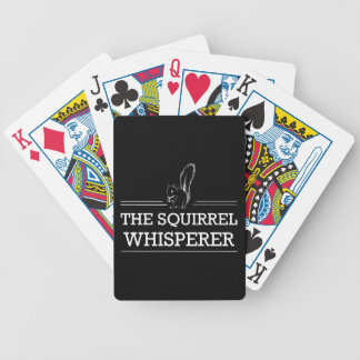 The Squirrel Whisperer Bicycle Playing Cards