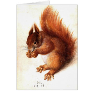 THE SQUIRREL WITH NUTS GREETING CARD