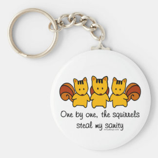 The squirrels steal my sanity key ring