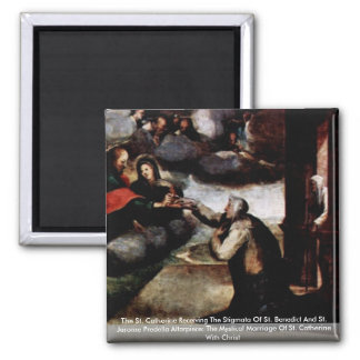 The St. Catherine Receiving The Stigmata Refrigerator Magnets