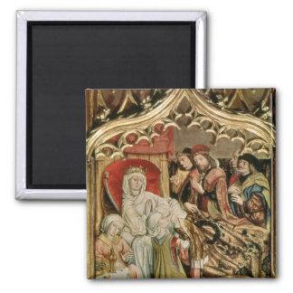 The St. Elizabeth Altarpiece Square Magnet