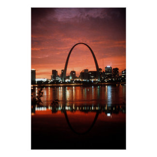 The St. Louis Arch at Dusk Photograph Poster
