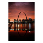 The St. Louis Arch at Dusk Photograph Posters