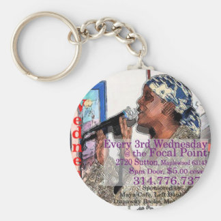 The St. Louis Poetry Slam shwag Basic Round Button Key Ring