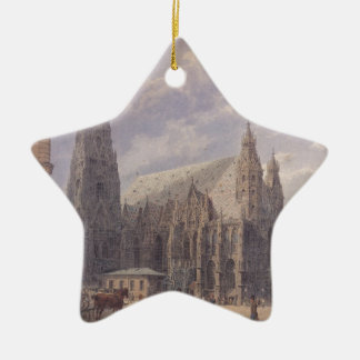 The St. Stephen's Cathedral in Vienna by Rudolf vo Ceramic Star Decoration